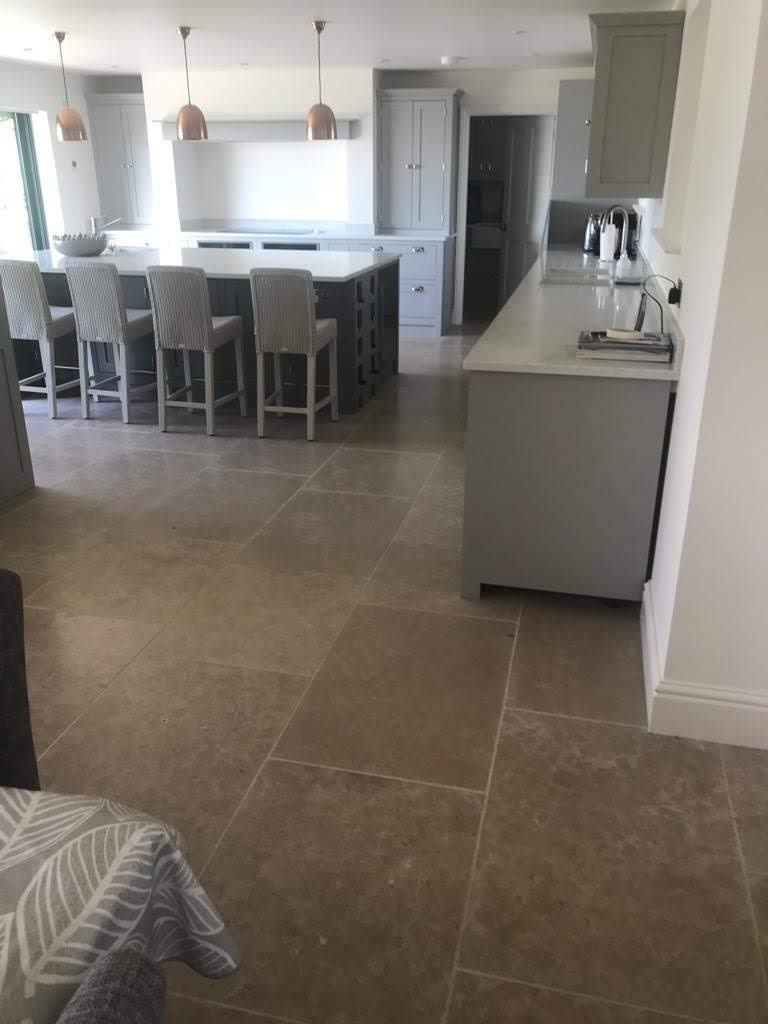 Bespoke kitchen designed by somebody else, but tiled by us, again on the isle of wight, UK