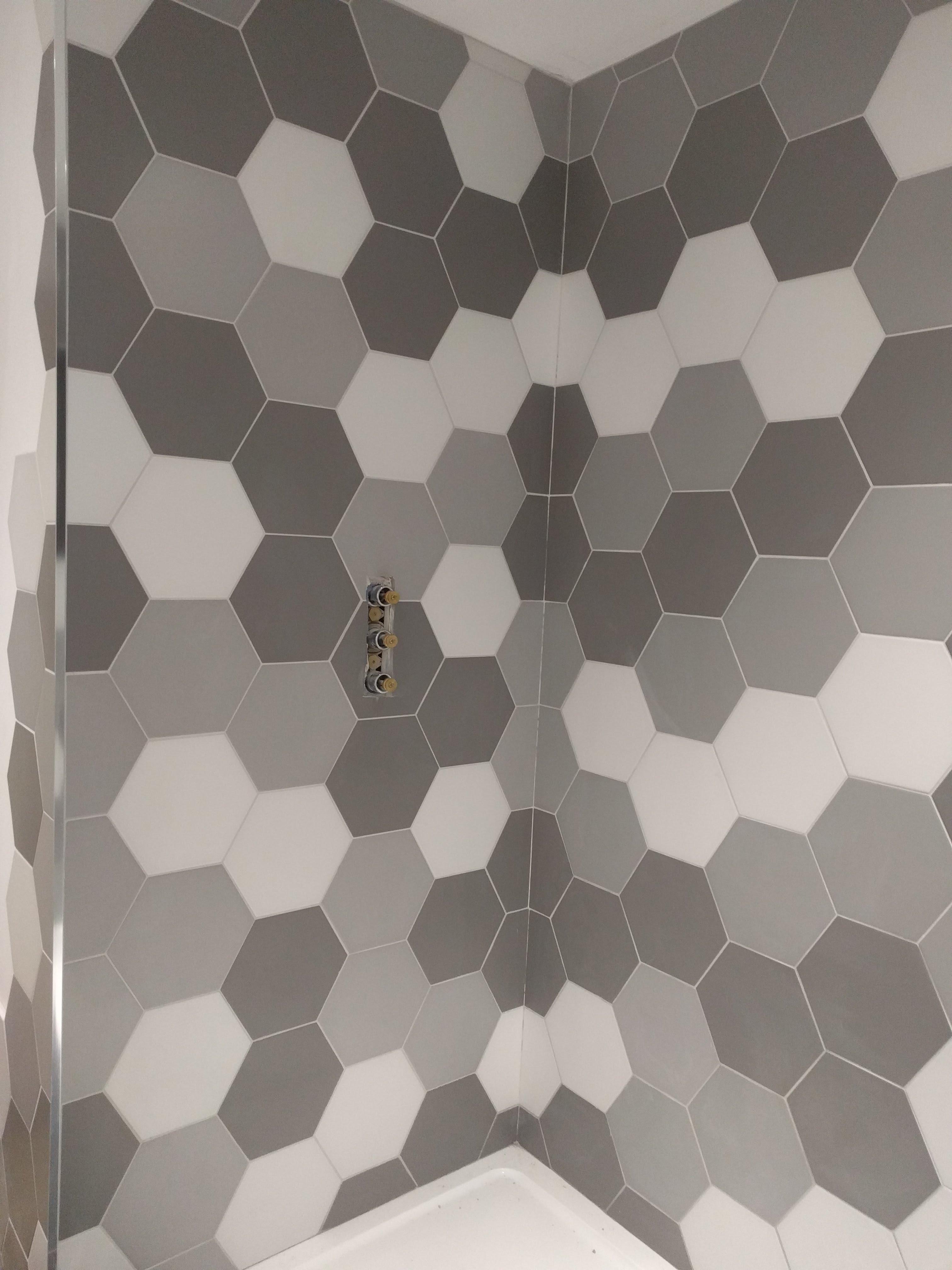 Hex Tiles Shower Wall Tilersforums Co Uk Professional