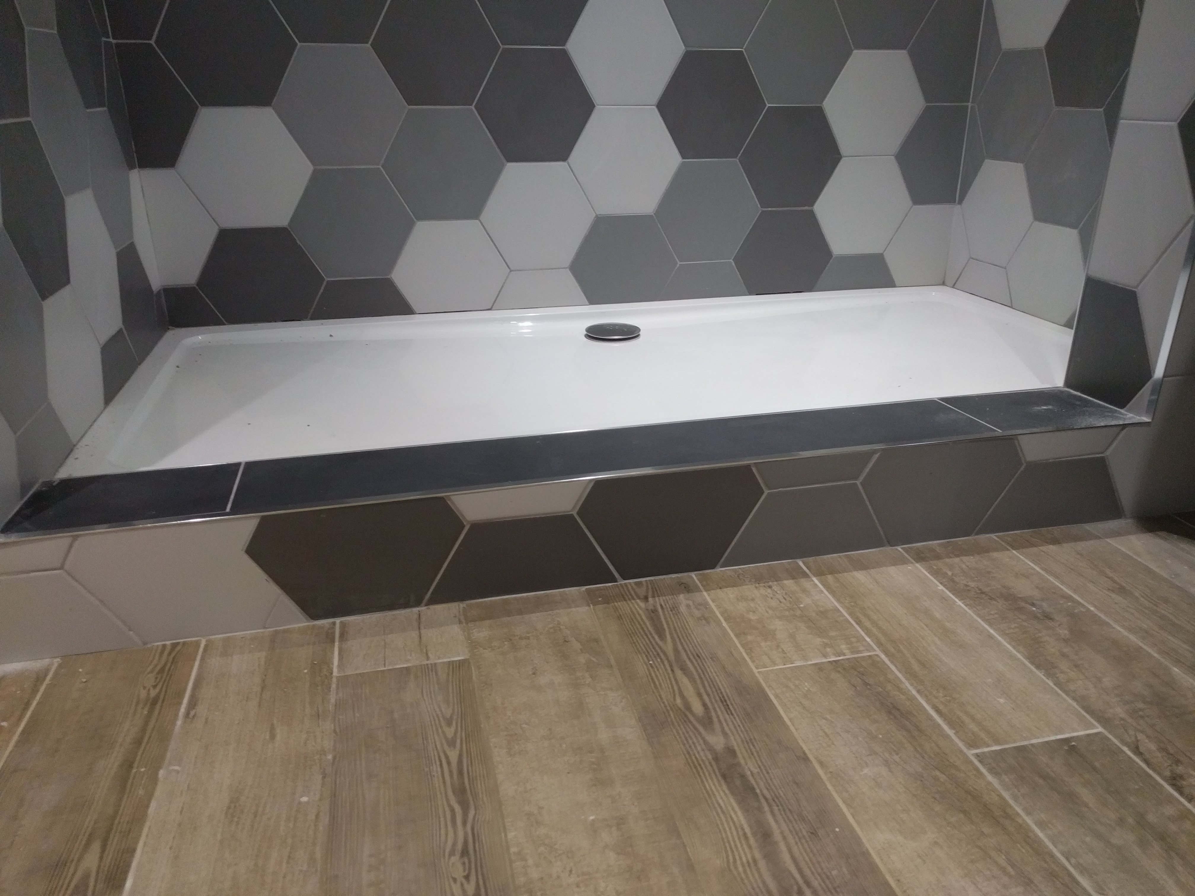 Shower Step Up | TilersForums.co.uk | Professional wall and floor ...