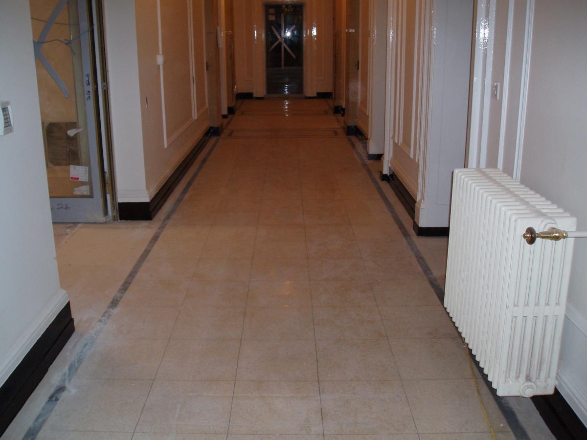 Terrazzo Floor Before Rocks Diamond Polished Floor Diy