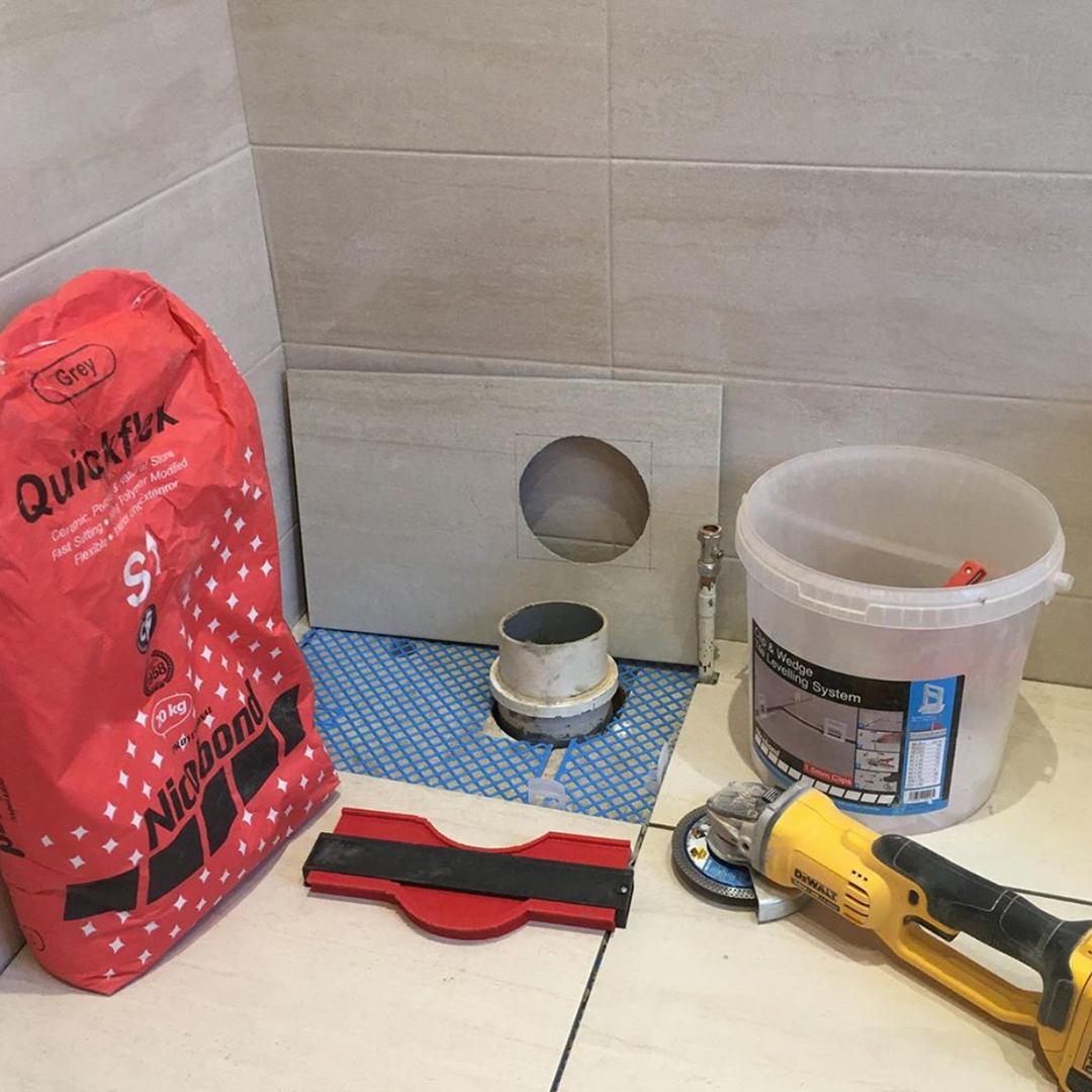 Tiling set up